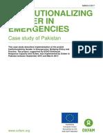 Institutionalizing Gender in Emergencies