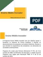 Ensino Medio Inovador Webconferancia 31102016