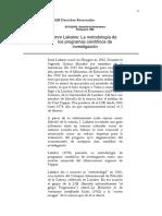 ITAM - Imre Lakatos y L.laudan. Metodol. de Los Progr.científ. de Invest. vs.tradiciones (1)