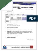 Plano de Ensino 2017 - Informática ANO 02- Inteernet