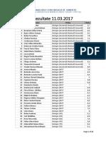 Rezultate 11-03-2017