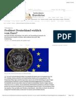 Profitiert Deutschland Von Schwachen Euro-Staaten?