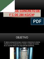 DISEÑO DE CONCRETO DE F´C DE 280 kg