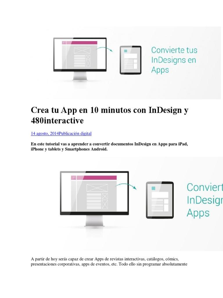 Manual Para Combertir en App Con Adobe Indesign