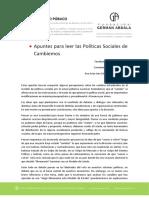 Apuntes para leer las Políticas Sociales de Cambiemos