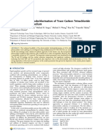 Photocatalytic Hydrodechlorination of Trace Carbon Tetrachloride(CCl4) in Aqueous Medium