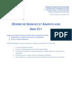 Pneumologie Polycopie Oedeme de Quincke Et Anaphylaxie