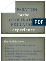 Preparation for Cooperative Education