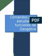 Funciones Para Graficar en Geogebra