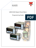 UDM 35/40 Digital Panel Meter  Programming Manual