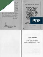 Micharvegas, Martin - Dos Discursos Para El Parl. in Visible