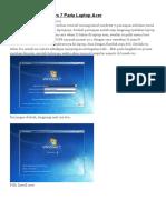 Tutorial Instal Windows 7 Pada Laptop
