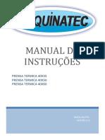 Manual de Instruções Maquinatec - Pequenos Formatos