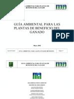 Guia Ambiental Para Plantas de Beneficio Del Ganado