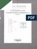 Panofsky Erwin_La Perspectiva Como Forma Simbolica