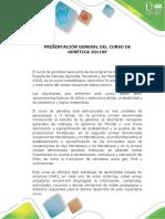 Presentacion Del Curso de Genética 201105f