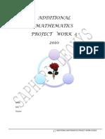 Additional Mathematics Project Work 2010 4