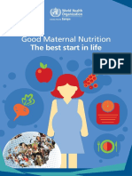 Good Maternal Nutrition the Best Start in Life