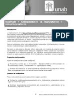 UNIDAD_4 Recepción y Almacenamiento de Medicamentos y Dispositivos Médicos