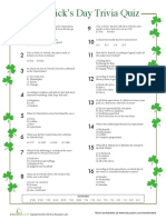 St. Patrick's Trivia