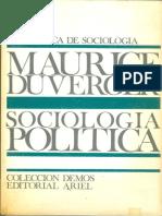 Duverger, Maurice - Sociología Política