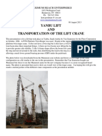Yanbu Lift & Transportation of the Lift Crane