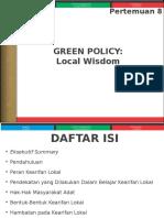 008 SED Green Policy_Local Wisdom