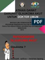 Pp Patogenesis Glaukoma Akut (Pelatihan Gawat Darurat Glaukoma Akut Untuk Dokter Umum)