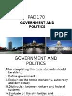 Chapter 1 - Govt & Politics