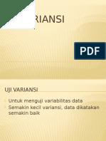 Biostat 2015 Minggu12 Uji Variansi