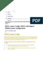 BSNL Router Config