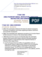 7 Fam 1380 (Sbu) Passport Denial, Revocation, Limitation, Restriction, And Surrender