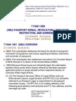 7 Fam 1380 (Sbu) Passport Denial, Revocation, Limitation, Restriction, And Surrender