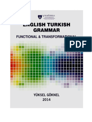 English Turkish Grammar Functional And Transformational Revised