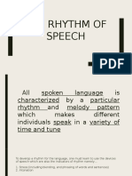 The Rhythm of Speech