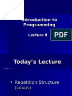 Lecture 8 While