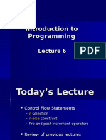 Lecture 6 if Else