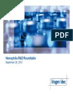 Hemophilia IR Roundtable 25Sept10 v7 PRINT
