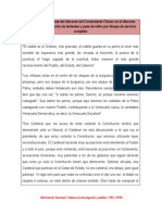 Orientaciones políticas del discurso del Comandante Chávez en el discurso tomado en la graduación de tenientes y pase de retiro