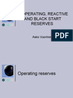 Operating Reserves