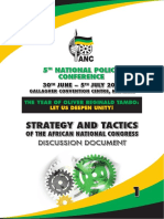 National Policy Conference 2017 Strategy and Tactics