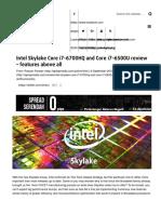 Intel Skylake Core i7-6700HQ and Core i7-6500U Review