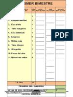 Ficha de Evaluación Del Cuaderno-2016