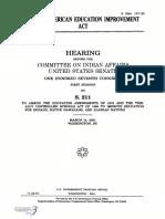 SENATE HEARING, 107TH CONGRESS - NATIVE AMERICAN EDUCATION IMPROVEMENT ACT