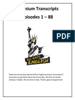 All Ears English Premium Transcripts 1 88