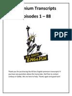 All Ears English Premium Transcripts 1 88