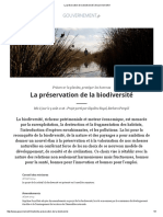 La préservation de la biodiversité _ Gouvernement