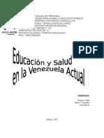 Educación y Salud en La Venezuela Actual