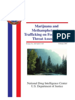 Marijuana and Methamphetamine Trafficking on Federal Lands Threat Assessment