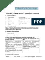 Silabo de Persona Familia y Relaciones Humanas- 1 Ero .-2017